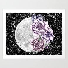 Moon Abloom II Art Print