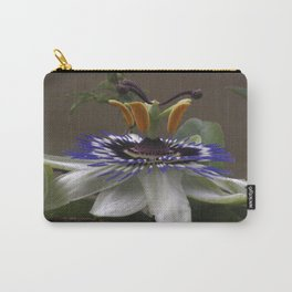 Side View of Beautiful Passiflora Flower Carry-All Pouch