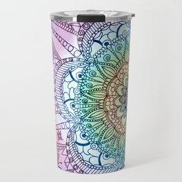 Purple Butterfly Mandala Travel Mug