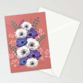 Anemones collection: bouquet II Stationery Cards