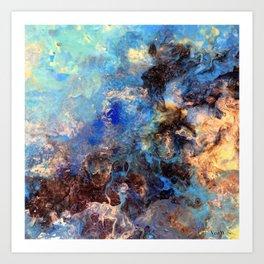 Pacific Lagoon - Original Abstract Art by Vinn Wong Art Print