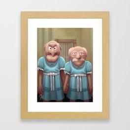 Muppet Maniac - Statler & Waldorf as the Grady Twins Framed Art Print
