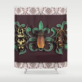 TRILOGY BEETLES II Shower Curtain
