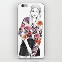 gemma correll iPhone & iPod Skins featuring Gemma Sketch by Coconut Wishes