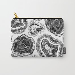 Black agate marble lines Carry-All Pouch