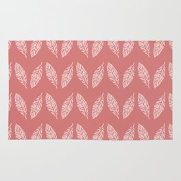 Tropical foliage Flamingo Pink #tropical #leaves #homedecor Rug