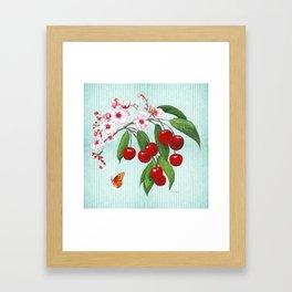 Cherries on Vintage  Framed Art Print