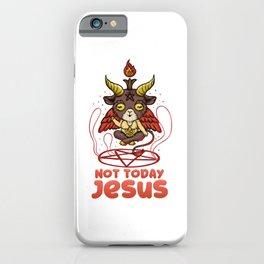 Not Today Jesus T-Shirt Anime Kawaii Baphomet iPhone Case