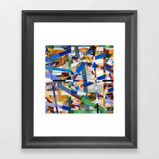 Óscar (stripes 23) Framed Art Print