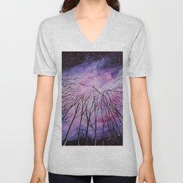 Galaxy, watercolor Unisex V-Neck