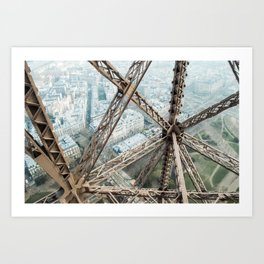 Looking Down on the Eiffel Tower Art Print