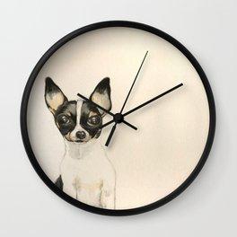 Chihuahua - the tiny dog Wall Clock