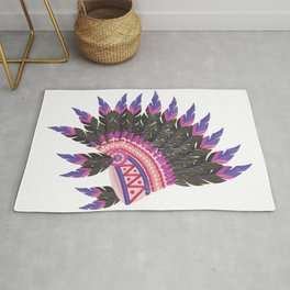 Indian Headdress Native American Art  Product Rug