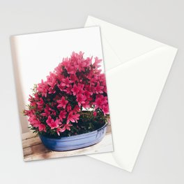 Pink flowered bonsai  Stationery Cards