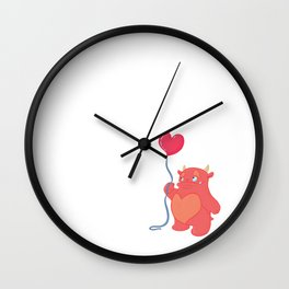 Stanley the Love Monster and his Wonderful Heart Balloon Wall Clock