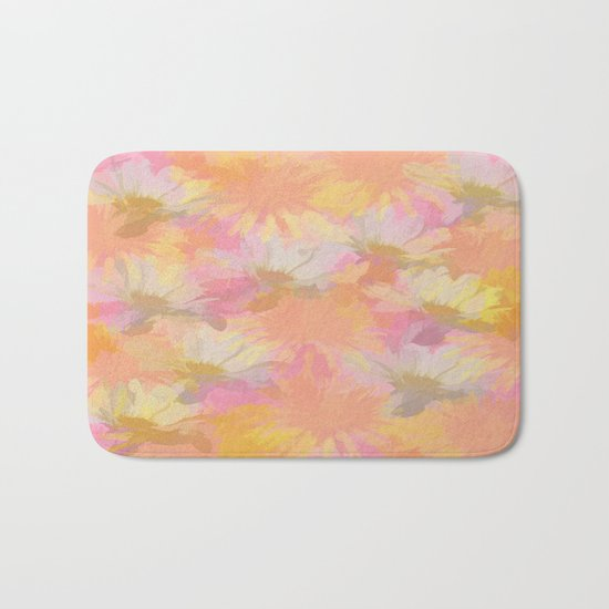 Painted Spring Flowers Bath Mat