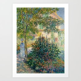 "Claude Monet ""Camille Monet in the garden at Argenteuil"" Art Print"