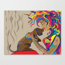 """""""Fall in Lust"""" Paulette Lust's Original, Contemporary, Whimsical, Colorful Art  Canvas Print"""
