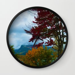 Fall Colours Along the Columbia River in Revelstoke BC Wall Clock