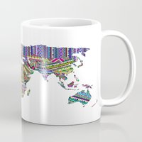 decal Mugs featuring Overdose World by Bianca Green