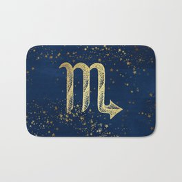 Scorpio Zodiac Sign Bath Mat