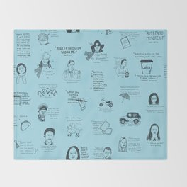 Gilmore Girls Quotes in Blue Throw Blanket