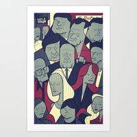 sopranos Art Prints featuring The Sopranos by Ale Giorgini