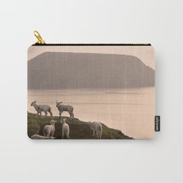 Little lambs on a cliff Carry-All Pouch