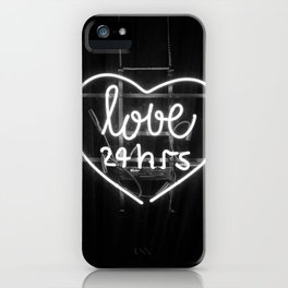 Love 24 Hours (Black and White) iPhone Case