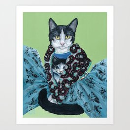 Cat's Wearing Cats - Vivienne Westwood SS14 Collection Art Print