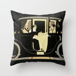 """C Coles Phillips """"Flanders Colonial Electric"""" Vintage Car Throw Pillow"""