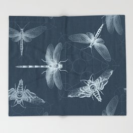 X-RAY Insect Magic Throw Blanket