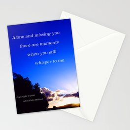 """Flickering Sunset"" with poem: There Are Moments Stationery Cards"