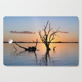 Sunset Silhouette Cutting Board