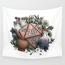 Alchemist D20 Tabletop RPG Gaming Dice Wall Tapestry