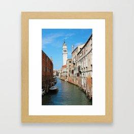 Venice San Giorgio Dei Greci Belltower Framed Art Print
