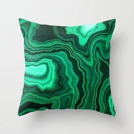 Emerald Marble Throw Pillow