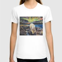northern lights T-shirts featuring Northern Lights by Michael Creese