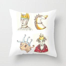 Four Faces Throw Pillow