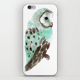 Watercolour Owl iPhone Skin