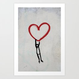 heart wall Art Print