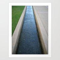 Water Sculpture Art Print