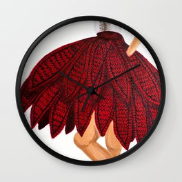 Red Flair - No.3 Wall Clock