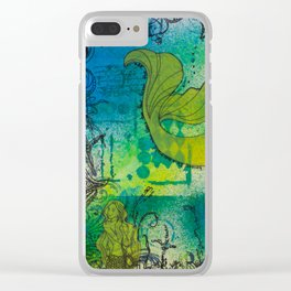 Mermaid Playground Clear iPhone Case