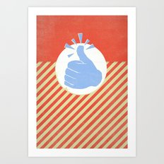 Thumbs Up! Art Print