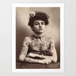 Maud Wagner Tattoo Photograph Art Print