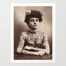 Maud Wagner Tattoo Photograph Kunstdrucke