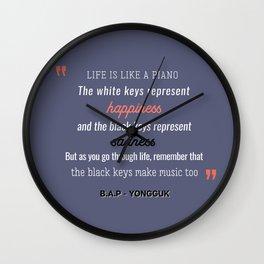 B.A.P Yongguk Quote Wall Clock