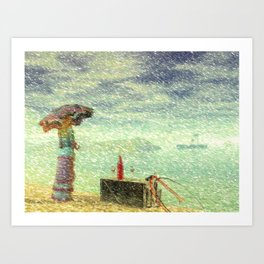 Down By The Sea Art Print