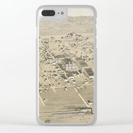Vintage Pictorial Map of McKinney Texas (1876) Clear iPhone Case